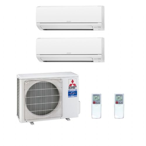 Mitsubishi Electric Air Conditioning MXZ-2D53VA 2 x 3.5Kw MSZ-SF35VA Multi Room Wall Air Conditioning A 240V~50Hz